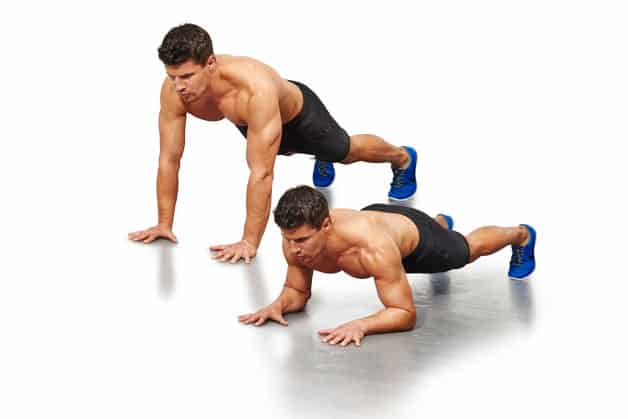 tiger bend pushup