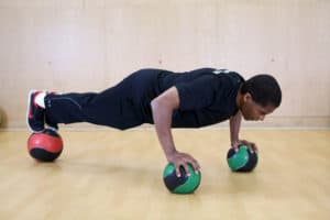 ball pushup