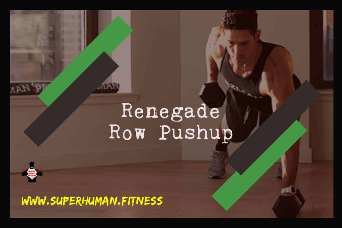 Renegade Row Pushup