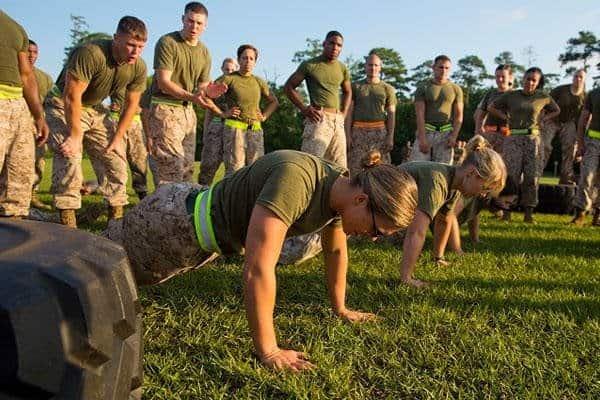 military push up